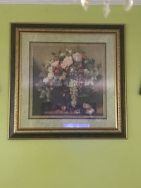 brown wooden framed painting of flowers Springfield, 22150