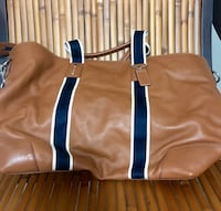 COACH HERITAGE WEB LEATHER WEEKEND TOTE Central Square, 13036