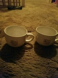 two white and black ceramic mugs Hagerstown, 21740
