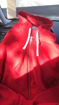 Red zip-up hoodie Sacramento, 95811