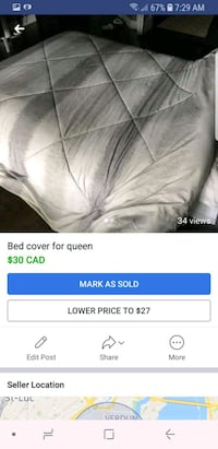 Bed cover for Queen Montréal, H2C 1C3