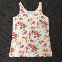 white and yellow floral tank top KCMO