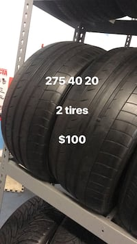 275 40 20 only 2 tires Vaughan, L4L 3T4