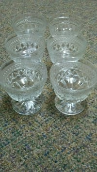 13 Vintage Clear Glass Dishes
