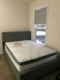 Brand New Full Size Grey Bed + Pillowtop Mattress  Silver Spring, 20902