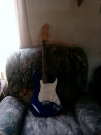 blue and white stratocaster electric guitar Mineral City, 44656
