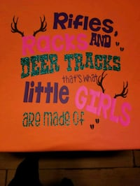 Rifles,Racks and Deer tracks are what little girls are made of shirt