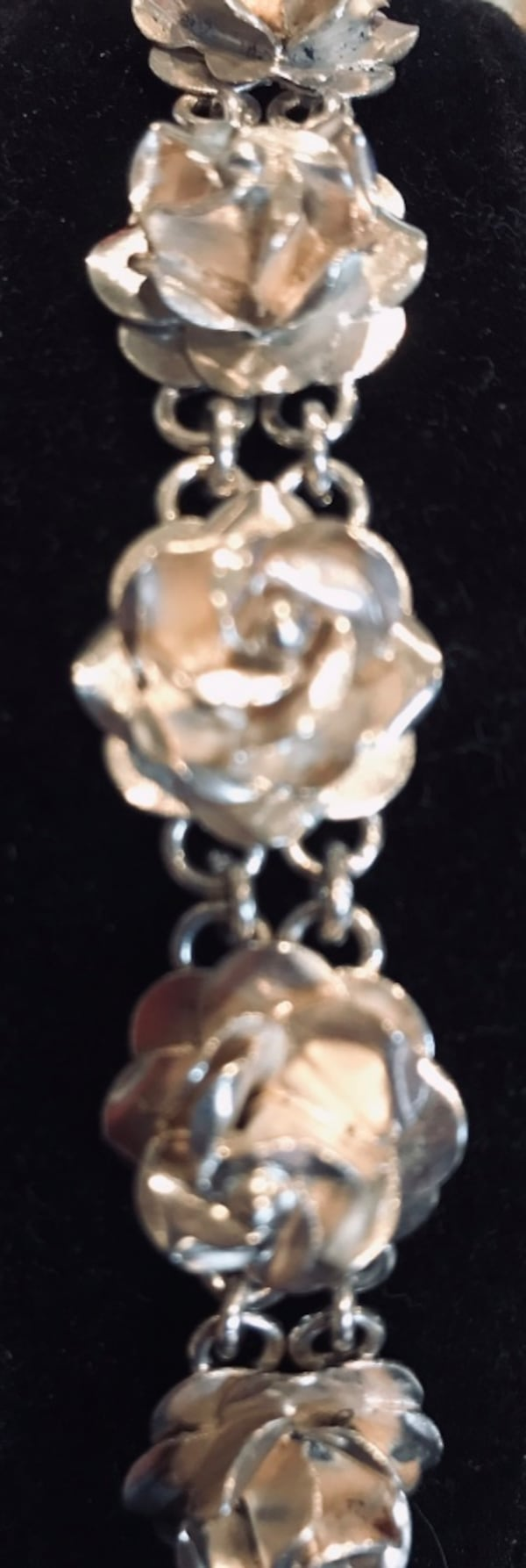 Sterling silver 3-d rose bracelet from Mexico 332142c4-4807-4595-8107-c5dc38dbe293