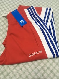 Red and blue adidas jersey pants Surrey, V3R 5K3