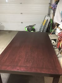 Rectangular brown wooden dining table null, T8R 2G4