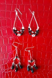 2 PR. SILVERTONE/BLACK EARRINGS  Glen Burnie, 21061