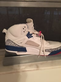 white and blue air jordan spi'zike Lauderhill, 33313
