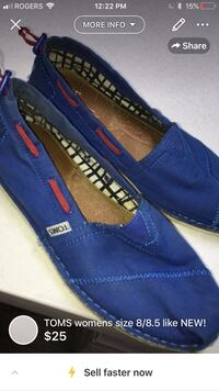 TOMS womens size 8/8.5 like NEW! London, N5W 1E8