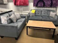 gray fabric sectional sofa with throw pillows HOUSTON