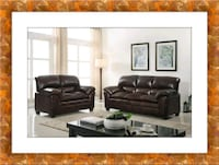 Burgundy sofa and love seat free delivery Ashburn, 20147
