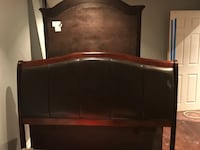 brown wooden headboard and footboard 554 km