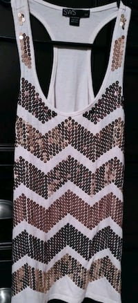 Women's Sequins Tank - Small