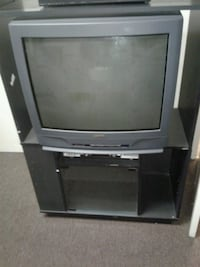 gray CRT TV with TV stand Camarillo, 93012