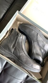 Men's hush puppy leather boots