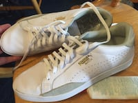Woman's White Leather & Green Suede Puma Match Shoes Size 10 Adelanto, 92301