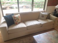 Mitchell Gold & Bob Williams Cream Sofa Potomac