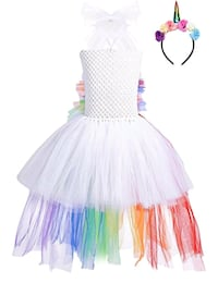 White rainbow tutu dress for babies, toddlers,mom Toronto, M6N