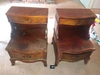 two brown wooden 2-step tables Memphis, 38115
