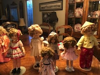 Shirley Temple dolls. Also a book, pitcher, 2 photos, and 2 post cards   Orange, 92869