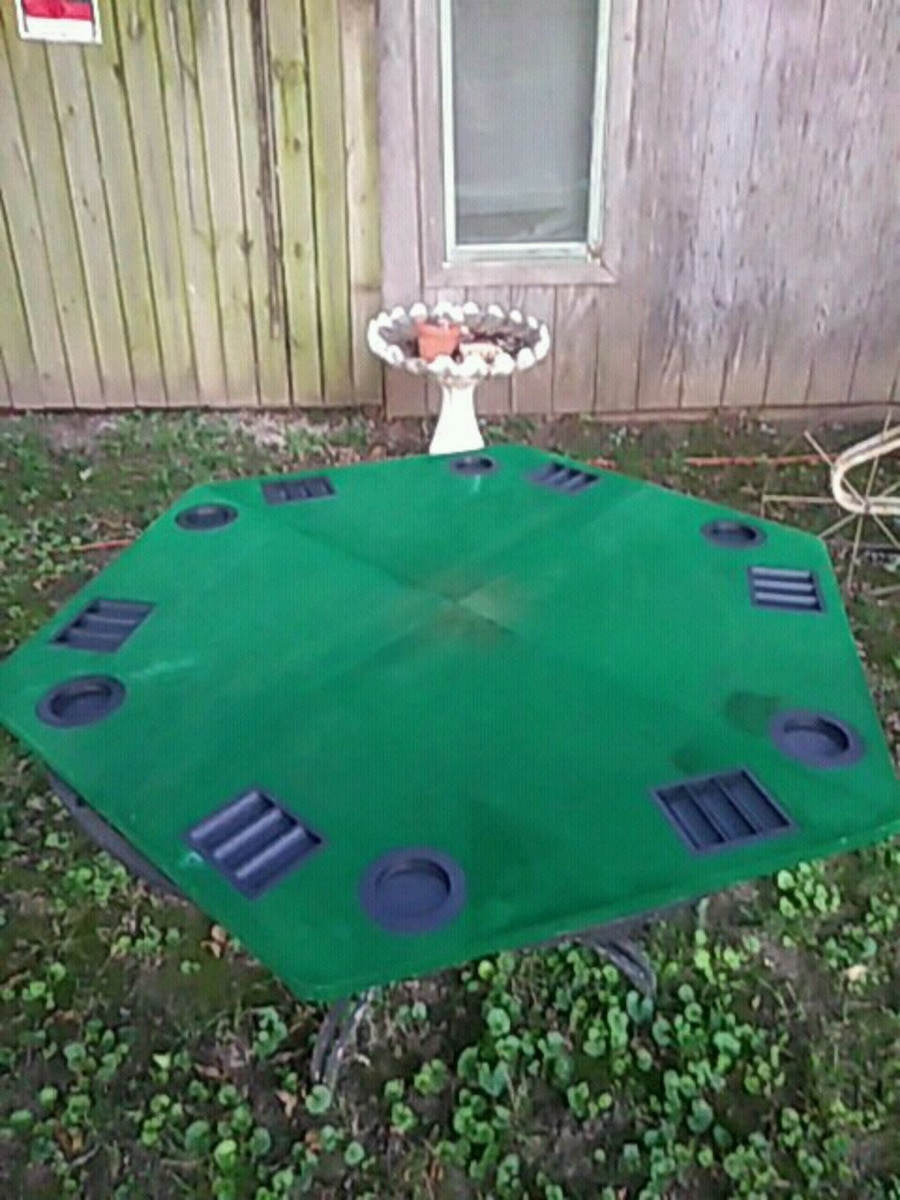 Photo Poker table for 5 players