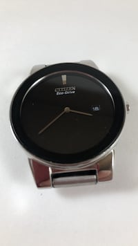 Citizen echo drive wrist watch silver with black face and date Vienna, 22180