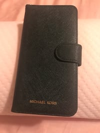 Black leather michael kors wallet case iPhone 7 plus Silver Spring, 20902