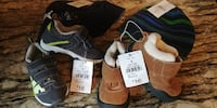 Size 6 Toddler Running Shoes & Size 5 Toddler Boot & 2 Hats Mississauga