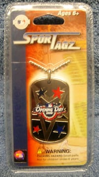 Sport Tagz 2006 MLB Opening Day dog tags BRAND NEW 2062 mi