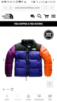 black and purple The North Face zip-up jacket Bronx, 10452