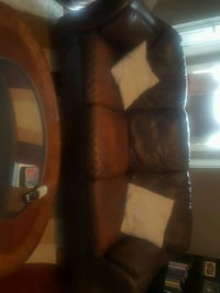Sofa, loveseat, glass top coffee table and 2 end tables