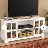 White TV stand Silver Spring