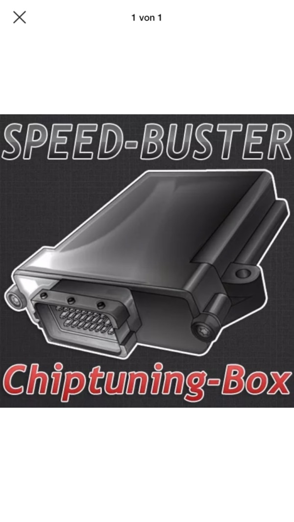 Schwarze speed-buster chiptuning box