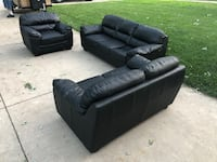 black leather tufted sectional sofa Hillside, 60162