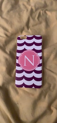 White, pink and purple letter n iPhone 6 Plus case