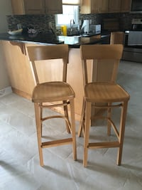 Two brown wooden bar stools Fallston, 21047
