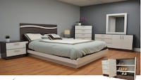 white and black bed set Hialeah, 33015