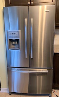 Whirlpool stainless steel fridge - not cooling  Newmarket, L3X 3G5