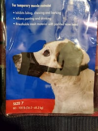 Adjustable mesh muzzle for dogs Toronto