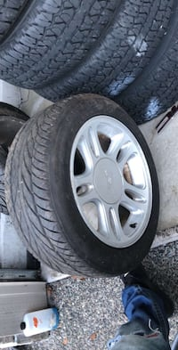 Mustang tire and rims  Vancouver, V5R 5E3