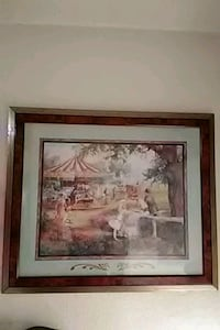 brown wooden framed painting of house Birmingham, 35209
