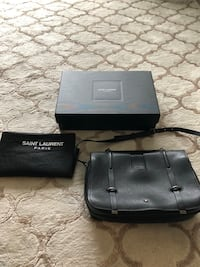 Saint Laurent black smooth leather bag  Toronto, M6R 2E1