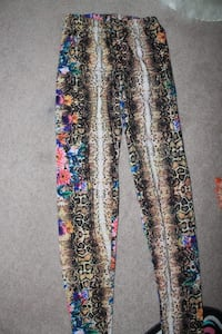 multicolored floral pants