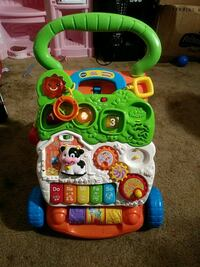 baby's green and white Vtech learning walker North Las Vegas, 89030