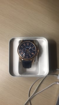 Rose Gold and Navy blue strap