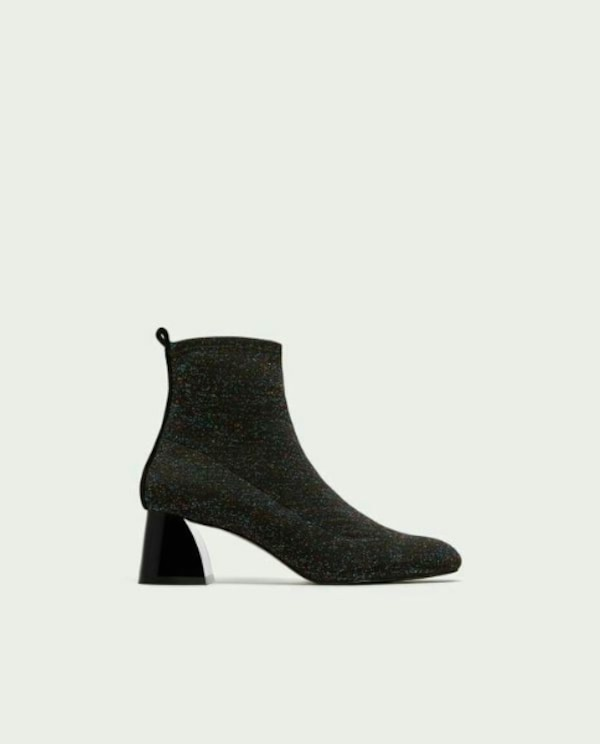 c4591c1b04a Zara Sock-style high heel ankle boots- Brand New w